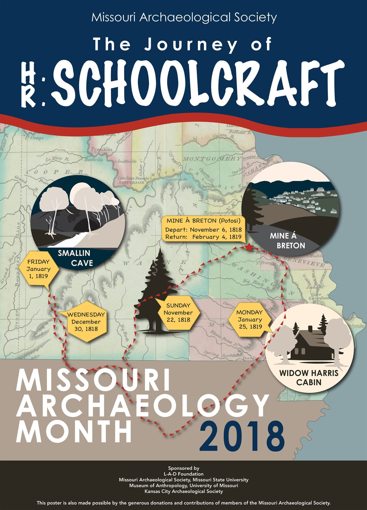 2018 Archaeology Month Poster